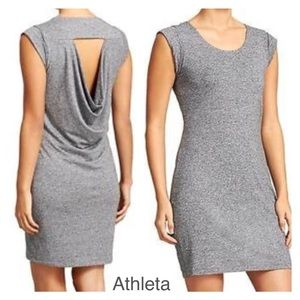 ATHLETA Heathered Grey Dress with Open Back